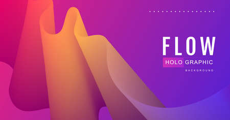 Gradient abstract 3D fluid background. Modern cover design. Vector illustration