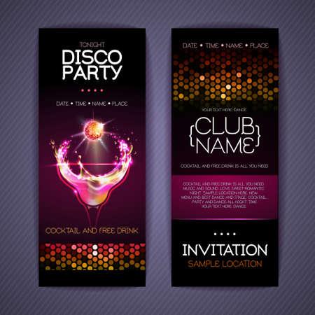 Disco Corporate identity templates. Cocktail