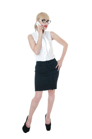Sexy blonde business woman