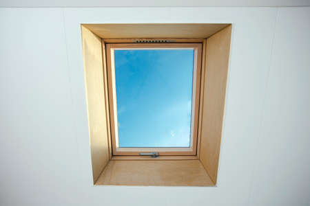 Attic Skylight on a residential home, interior shot