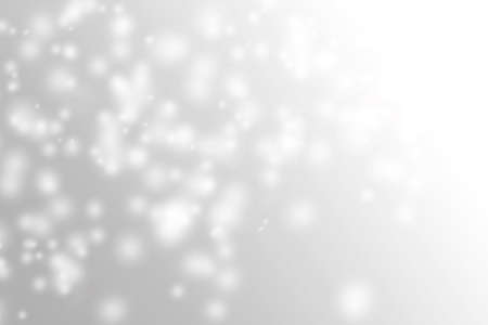 Soft light white and grey snowflake background bokeh design