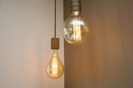 vintage light bulb lamp decorative in home retro design