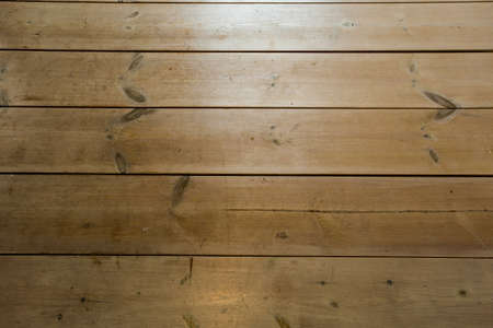 Wood Texture, Wooden Plank Grain Background, Desk in Perspective Close Up, Striped Timber, Old Table or Floor Board 스톡 콘텐츠