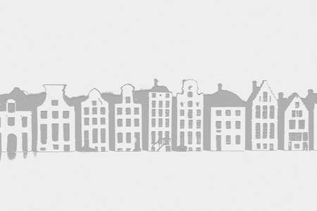 Stunning skyline of historic buildings black and white background