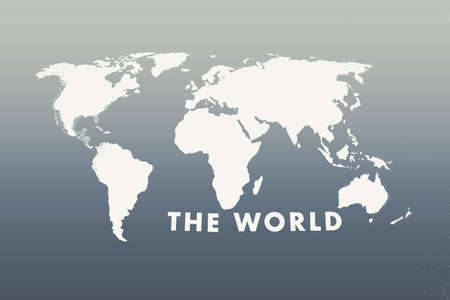 Map of the world black and white background texture