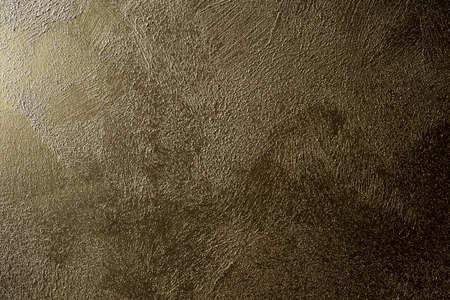 Grunge concrete wall texture gold brown shiny color retro design Reklamní fotografie