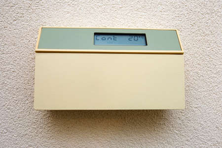digital climate control ,thermostat in a house