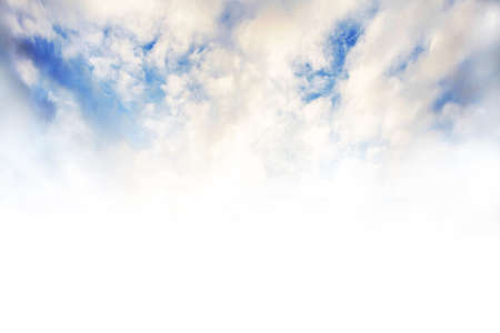 Beautiful Blue Sky Background Template With Some Space for Input Text Message Below Isolated on white Reklamní fotografie