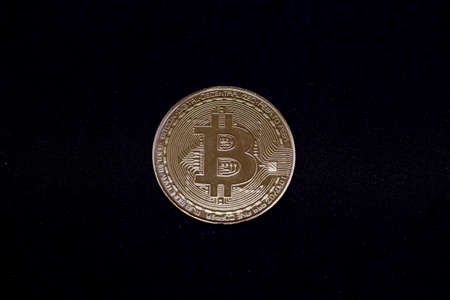 Bitcoin, crypto currency isolated on white background