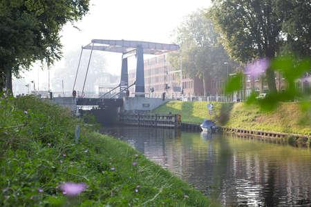 Canal and bridge sHertogenbosch Zuid-Willemsvaart August 29, 2019 landscape