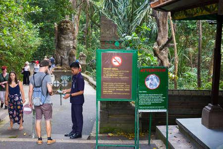 Bali Indonesia Ubud, 20 Sept 2019, Monkey forest Entrance