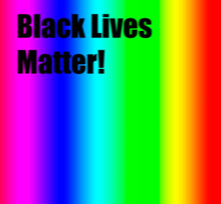 Black lives Matter in Black letters with rainbow background, Black lives matter concept