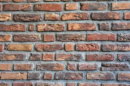 Brick wall dark red colored for background texture, modern retro style