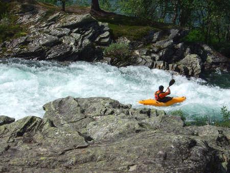 canoe paddle: Paddler