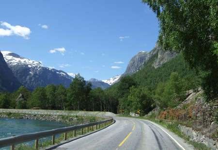 Scenic road photo