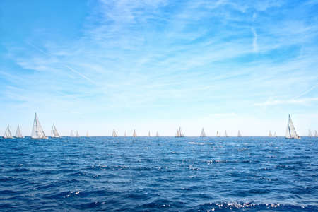 yacht race: Regatta in Croatia Stock Photo