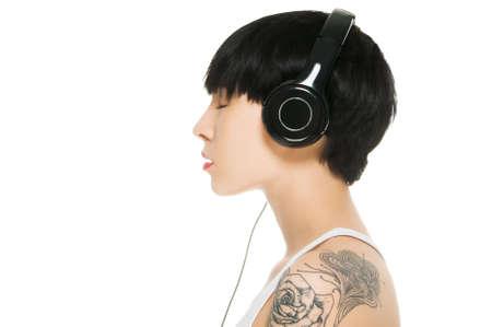 girl headphones: Satisfaction