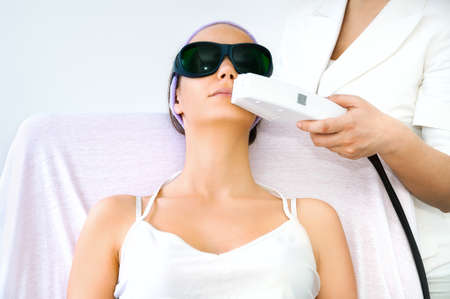 Laser ontharing behandeling Stockfoto