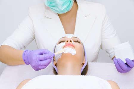 facial: Facial treatment Stock Photo