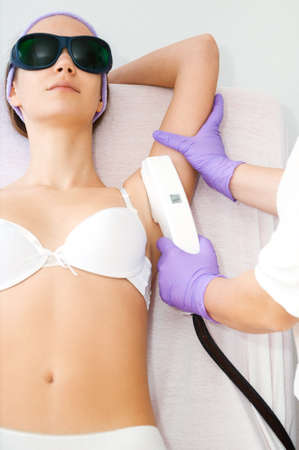 laser treatment: Laser hair removal