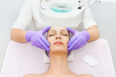 Facial treatment 스톡 콘텐츠