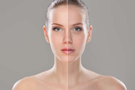 Woman face retouched
