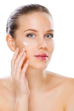 cutouts: Women skin care, studio shot isolated on white