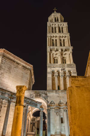 croatia: Cathedral of Saint Domnius, Split, at night