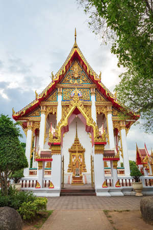 One of the buildings at Chalong temple complex, Phuket, Thailand Stock Photo