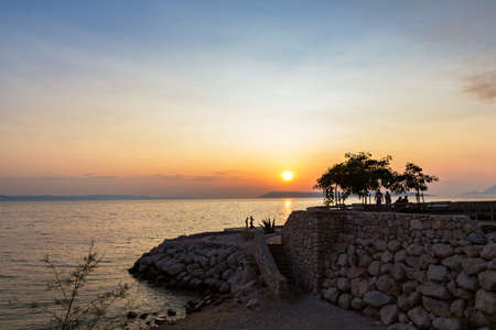 Sunset in Podgora, Dalmatia, Croatia