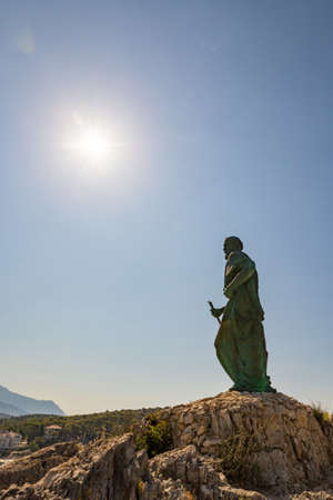 St. Peter statue, Makarska, Croatia Banco de Imagens