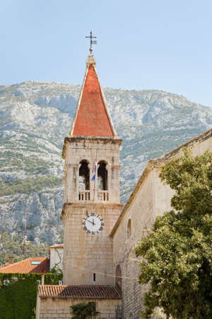 Detail of the co-cathedral of St Mark in Makarska, Croatia