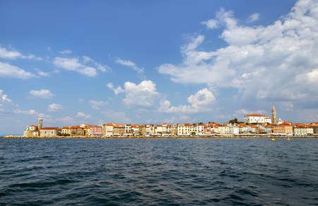 Cityscape of Piran, Slovenia