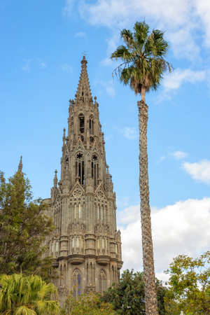 Cathedral of San Juan Bautista in Arucas, Gran Canaria, Spain.