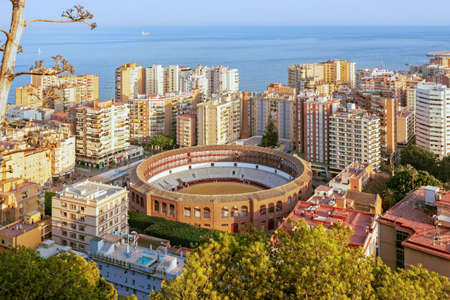 Aerial view of Malaga in a beautiful summer day Stock Photo
