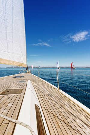 Enjoying the Adriatic sea Standard-Bild