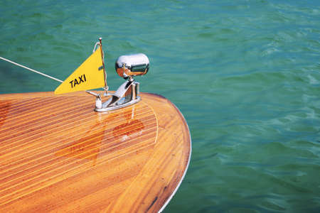 Water taxi in Venice, Italy Standard-Bild