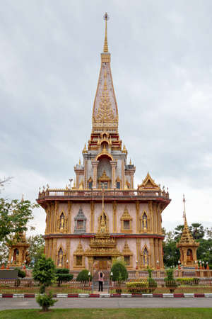 The Grand Pagoda at Wat Chalong temple complex, Phuket, Thailand Banque d'images - 138440198