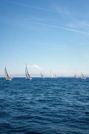 Regatta in the Adriatic sea