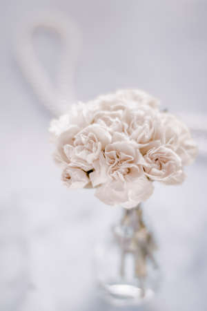 Bridal bouquet of white roses - wedding day, floral beauty, luxury event decoration concept. The happiest day of our lives