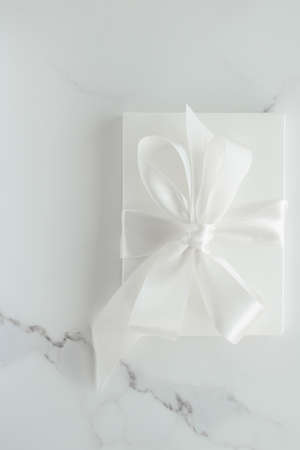 Romantic celebration, lifestyle and holiday present concept - Luxury wedding gifts on marble