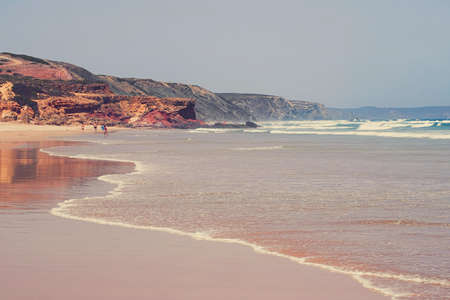 Coastal art print, holiday destination and travel concept - Atlantic ocean coast in Europe