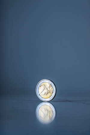 Banking, money and finance concept - Euro coins, European Union currency