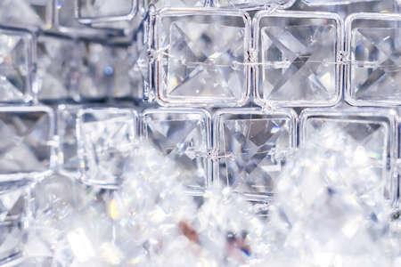 Edelsteen, sieradenontwerp en luxe winkelconcept - diamanten en kristallen, luxe getextureerde achtergrond