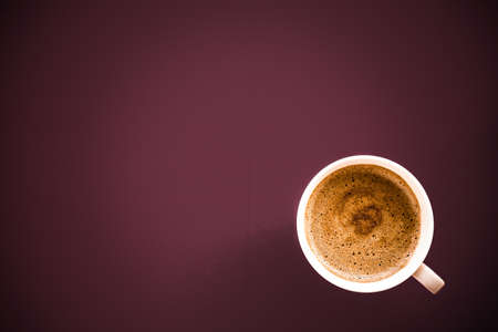 Hot drink, breakfast and vintage style concept - Coffee in the morning, flatlay background with copyspace
