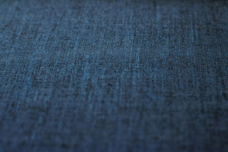 Textile material, natural surface and vintage decor texture concept - Decorative linen blue jeans fabric textured background for interior, furniture design and fashion label backdrop Banco de Imagens