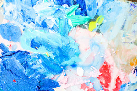 Painted texture, artistic backdrop and modern painting concept - Abstract acrylic paint strokes, art brush flatlay background 免版税图像