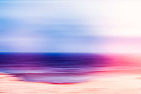 Coastal art print, holiday destination and luxury travel concept - Abstract sea background, long exposure view of dreamy ocean coast in summer