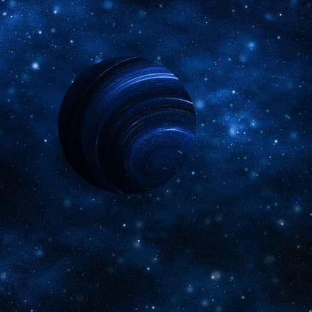 Descubrimiento en astronomía, concepto cósmico abstracto y tecnología futura: estrellas, planeta y galaxia en el universo cosmos, fondo de ciencia de viajes en el espacio y el tiempo