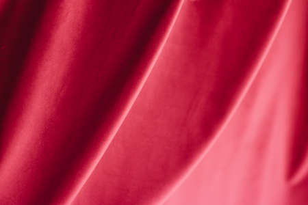 Decoration, branding and surface concept - Abstract pink fabric background, velvet textile material for blinds or curtains, fashion texture and home decor backdrop for luxury interior design brand
